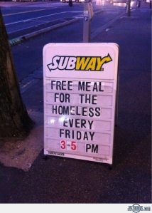 Subway-Free-meal-for-the-homeless-every-friday