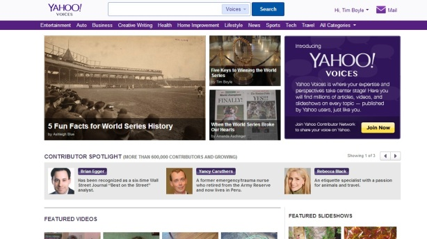 yahoo voices featured